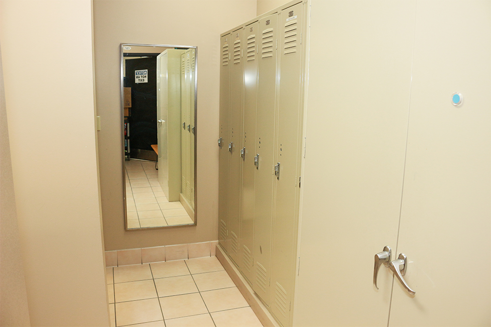 commercial lockers before renovation photo