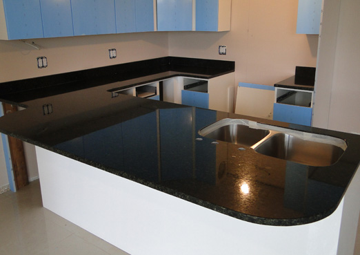 black granite kitchen countertops
