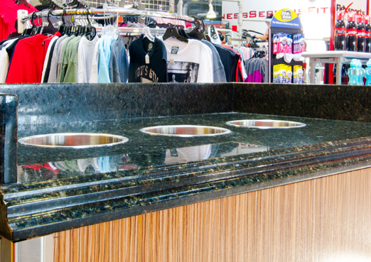 commercial green granite countertops