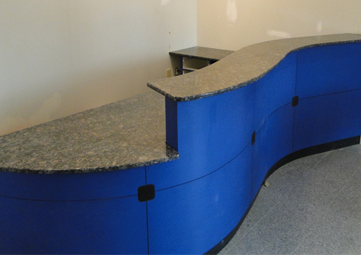 custom granite countertops for reception desks