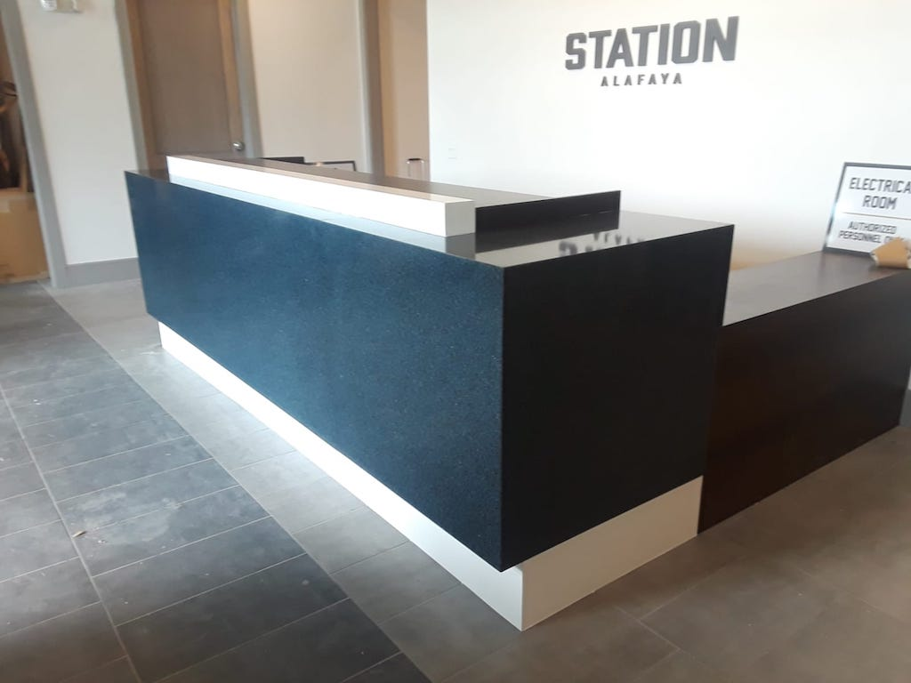 custom commercial reception desks