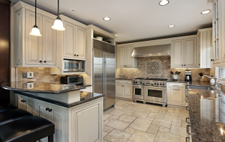 beautiful kitchen with granite countertops and stainless steal appliances